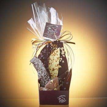 Composition de feuilles de chocolats assorties-280 grs