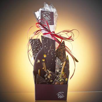 COMPOSITION DE 350 GRS DE FEUILLES DE CHOCOLAT NOIR