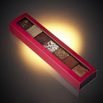 Réglette de 7 fudges chocolat assortis - 245 grs