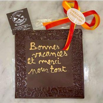 Bonnes Vacances et Merci pour tout chocolat noir
