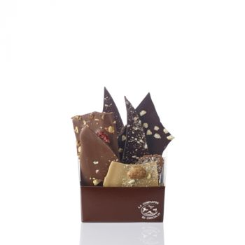 Composition de feuilles de chocolats assorties-205 grs