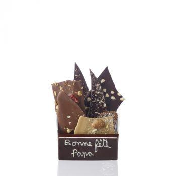 Bouquet de chocolats assorties-205 grs Bonne fête Papa