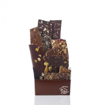 Composition de feuilles de chocolats assorties-275 grs