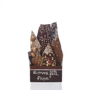 Bouquet de chocolats assorties-340 grs Bonne fête Papa
