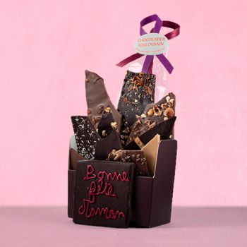 Bouquet de chocolats assorties-340 grs Bonne fête Maman