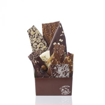 Composition de feuilles de chocolats assorties-425 grs