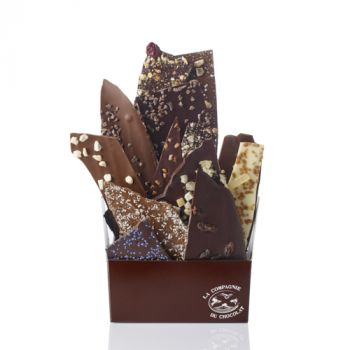 Composition de feuilles de chocolats assorties-595 grs