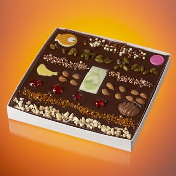Tableau de Pâques en chocolat noir T3