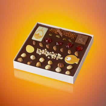 Tableau de Pâques en chocolat noir T2