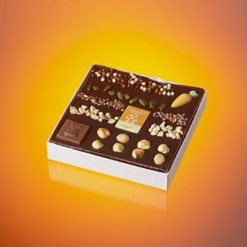 Tableau de Pâques en chocolat noir T1