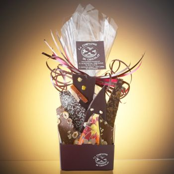 Composition de feuilles de chocolats assorties-170 grs