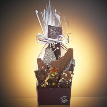 Composition de feuilles de chocolats assorties-340 grs