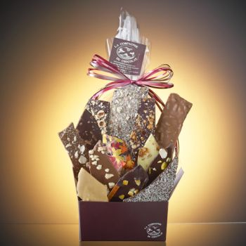 Composition de feuilles de chocolats assorties-510 grs