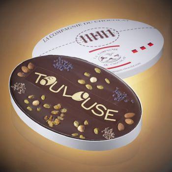 Le ballon de Rugby Toulouse en chocolat