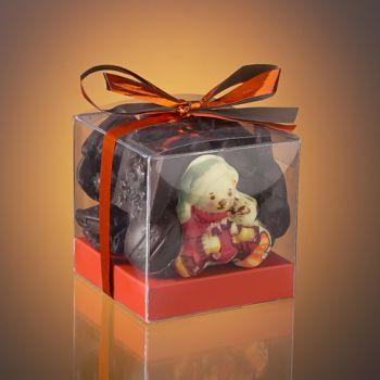 BOX OF DARK CHOCOLATE CHRISTMAST TREATS - 160g