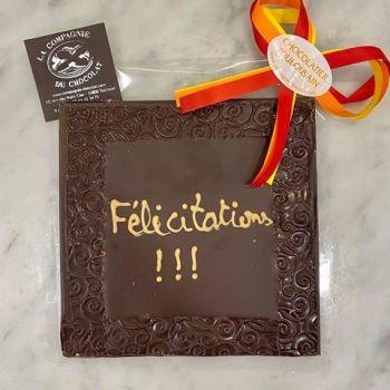 Félicitations chocolat noir