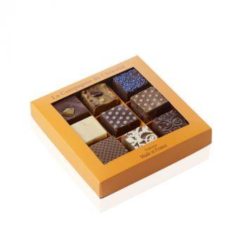 Boite de 9 fudges chocolat noir - 320 grs