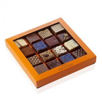Boite de 16 fudges chocolat assortis - 560 grs