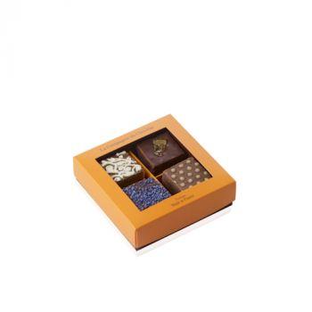 Boite de 4 fudges chocolat assortis - 140 grs