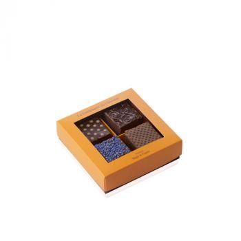 Boite de 4 fudges chocolat noir - 140 grs