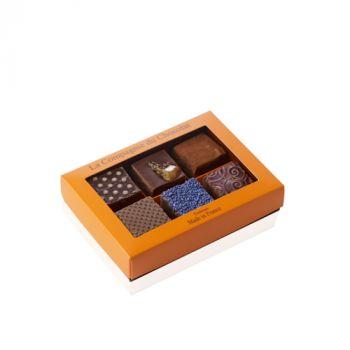 Boite de 6 fudges chocolat noir - 210 grs