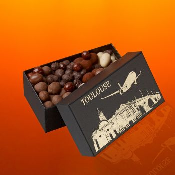 Coffret Avion Fruits secs chocolatés 270 grs