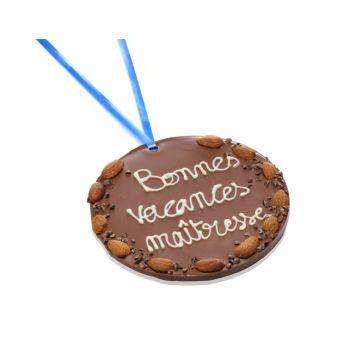 Grande Médaille Bonnes vacances Maîtresse chocolat lait