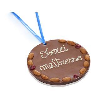 Grande Médaille Merci Maîtresse chocolat lait