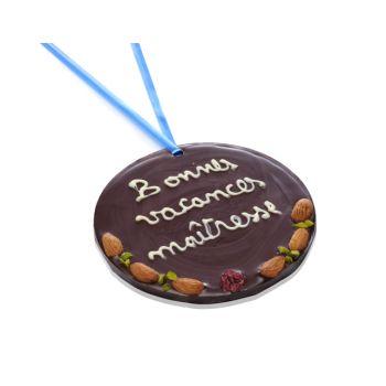 Grande Médaille Bonnes vacances Maîtresse chocolat noir
