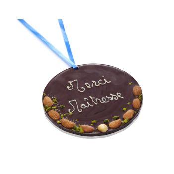 Grande Médaille Merci Maîtresse chocolat noir