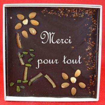 Tableau chocolat noir Merci beaucoup