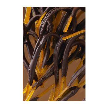 Orangettes Géantes enrobées de chocolat noir 200 grs