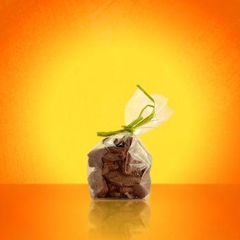 SACHET FRITURE DE PAQUES EN CHOCOLAT NOIR 100 GRS