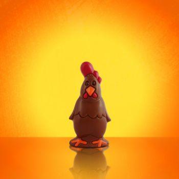 PETIT COQ avec crête rouge CHOCOLAT AU LAIT