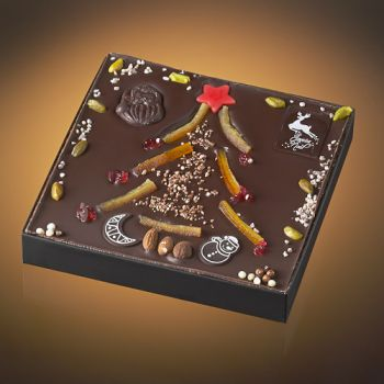 Sapin de Noël chocolat noir T3