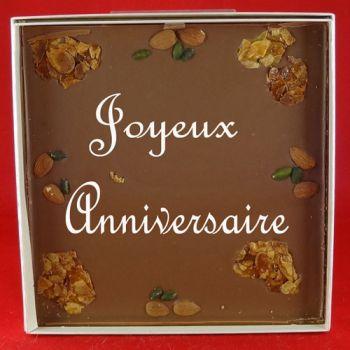 Tableau Bon anniversaire chocolat lait