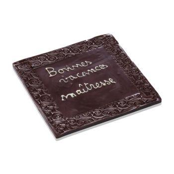 Bonnes Vacances Maîtresse chocolat noir