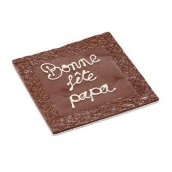 Tableau Bonne fête Papa chocolat lait