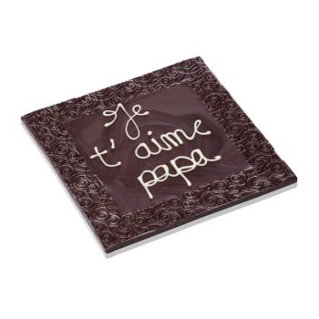 Tableau, Je t'aime Papa chocolat noir
