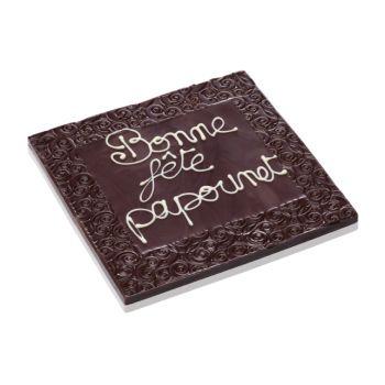 Tableau Bonne fête mon Papounet chocolat noir