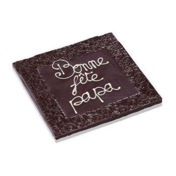 Tableau Bonne fête Papa chocolat noir