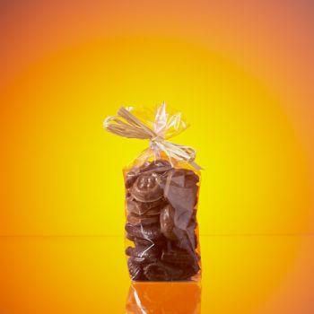 SACHET FRITURE DE PAQUES EN CHOCOLAT NOIR ET LAIT 200 GRS