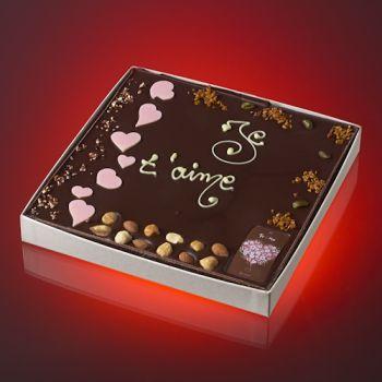 Tableau JE T'AIME Chocolat noir T3