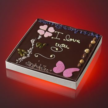 Tableau I LOVE YOU Chocolat noir  T3