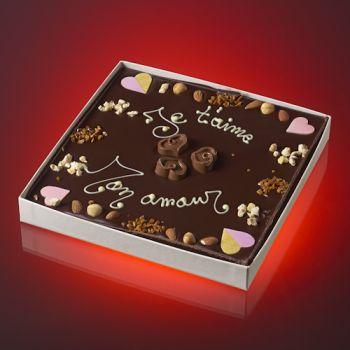 Tableau JE T'AIME MON AMOUR Chocolat noir