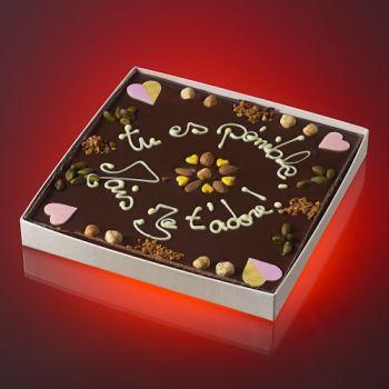 Tableau TU ES PENIBLE MAIS JE T'ADORE Chocolat noir T3
