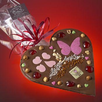 Saint Valentin Coeur Chocolat lait
