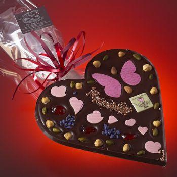 Saint Valentin Coeur Chocolat noir