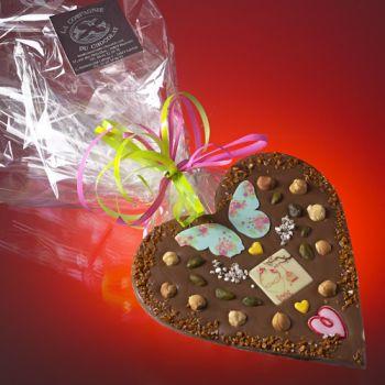 Saint Valentin petit Coeur Chocolat lait
