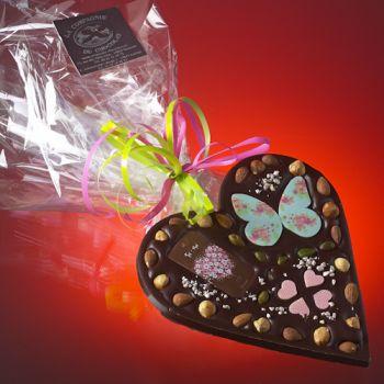 Saint Valentin petit Coeur Chocolat noir